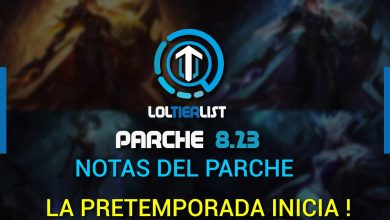 notas del parche league of legends